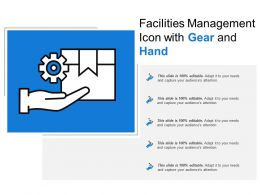 Facilities Management Icon With Gear And Hand