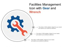 Facilities Management Icon With Gear And Wrench