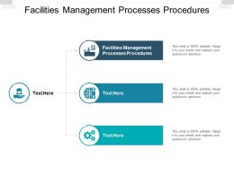 Facilities Management Processes Procedures Ppt Powerpoint Presentation Show Templates Cpb