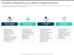 Facilities Offered By Successful Implementation Security Operations Integration Ppt Elements