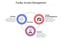 Facility Access Management Ppt Powerpoint Presentation File Display Cpb
