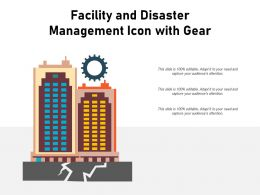 Facility And Disaster Management Icon With Gear