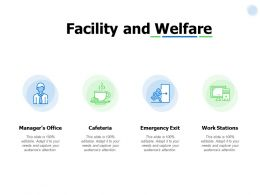 Facility And Welfare Icons Ppt Powerpoint Presentation Gallery Pictures