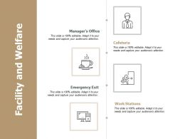 Facility And Welfare Work Stations Ppt Powerpoint Presentation File Clipart