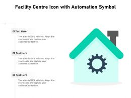 Facility Centre Icon With Automation Symbol