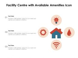 Facility Centre With Available Amenities Icon