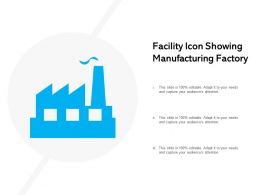 Facility Icon Showing Manufacturing Factory