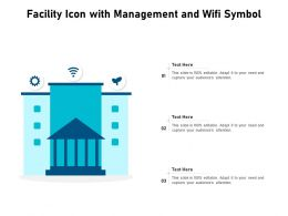 Facility Icon With Management And WIFI Symbol