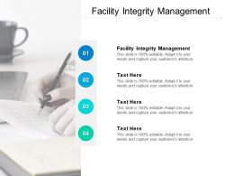 Facility Integrity Management Ppt Powerpoint Presentation Infographics Design Cpb