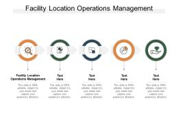 Facility Location Operations Management Ppt Powerpoint Presentation Layouts Diagrams Cpb