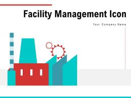 Facility Management Icon Enterprise Manufacturing Gear Warehouse Services
