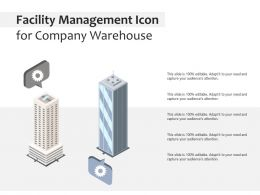 Facility Management Icon For Company Warehouse