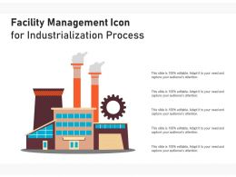 Facility Management Icon For Industrialization Process