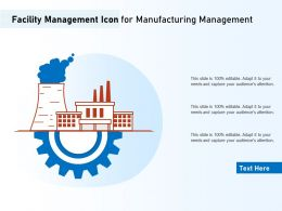 Facility Management Icon For Manufacturing Management