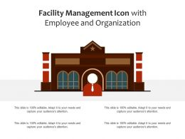 Facility Management Icon With Employee And Organization