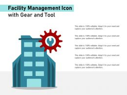 Facility Management Icon With Gear And Tool