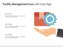 Facility Management Icon With Gear Sign