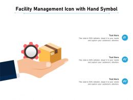 Facility Management Icon With Hand Symbol