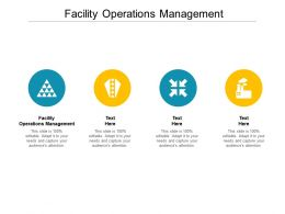 Facility Operations Management Ppt Powerpoint Presentation Diagram Lists Cpb