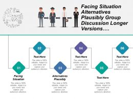 Facing Situation Alternatives Plausibly Group Discussion Longer Versions