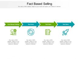 Fact Based Selling Ppt Powerpoint Presentation Layouts Introduction Cpb