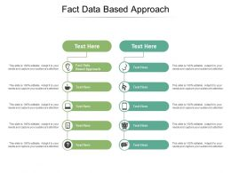 Fact Data Based Approach Ppt Powerpoint Presentation Infographics Backgrounds Cpb