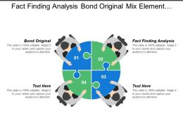 Fact Finding Analysis Bond Original Mix Element Formula Offering