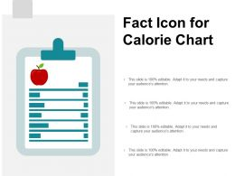 Fact Icon For Calorie Chart