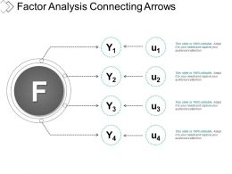 Factor Analysis Connecting Arrows