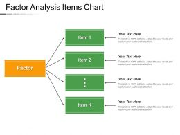 Factor Analysis Items Chart