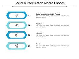 Factor Authentication Mobile Phones Ppt Powerpoint Presentation Model Deck Cpb