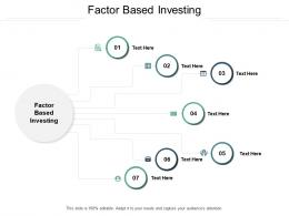 Factor Based Investing Ppt Powerpoint Presentation Infographic Template Sample Cpb