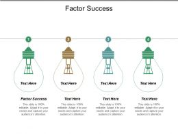 Factor Success Ppt Powerpoint Presentation File Inspiration Cpb