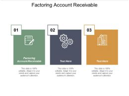 Factoring Account Receivable Ppt Powerpoint Presentation Infographic Template Cpb