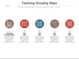 Factoring Grouping Steps Ppt Powerpoint Presentation Show Demonstration Cpb