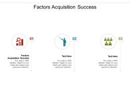 Factors Acquisition Success Ppt Powerpoint Presentation Gallery Samples Cpb