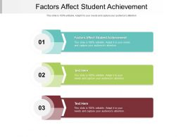 Factors Affect Student Achievement Ppt Powerpoint Presentation Gallery Summary Cpb