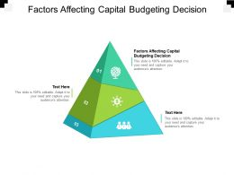 Factors Affecting Capital Budgeting Decision Ppt Powerpoint Presentation Infographic Template Designs Cpb