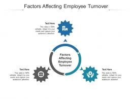 Factors Affecting Employee Turnover Ppt Powerpoint Presentation Diagram Images Cpb