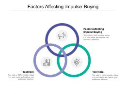Factors Affecting Impulse Buying Ppt Powerpoint Presentation File Professional Cpb
