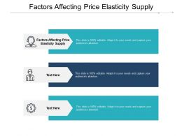 Factors Affecting Price Elasticity Supply Ppt Powerpoint Presentation Gallery Shapes Cpb