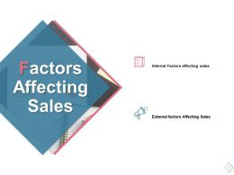 Factors Affecting Sales Internal Ppt Powerpoint Presentation Slides