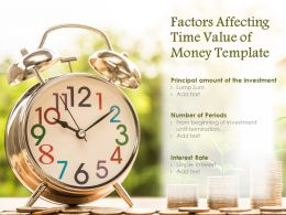 Factors Affecting Time Value Of Money Template