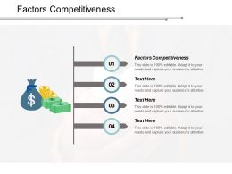 Factors Competitiveness Ppt Powerpoint Presentation Model Diagrams Cpb