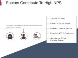 Factors Contribute To High Nps Powerpoint Slides