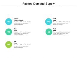 Factors Demand Supply Ppt Powerpoint Presentation Outline Designs Cpb