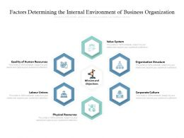 Factors Determining The Internal Environment Of Business Organization