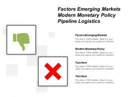 Factors Emerging Markets Modern Monetary Policy Pipeline Logistics Cpb