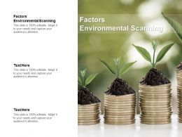 Factors Environmental Scanning Ppt Powerpoint Presentation Pictures Topics Cpb