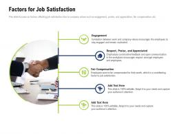 Factors For Job Satisfaction Company Culture And Beliefs Ppt Infographics